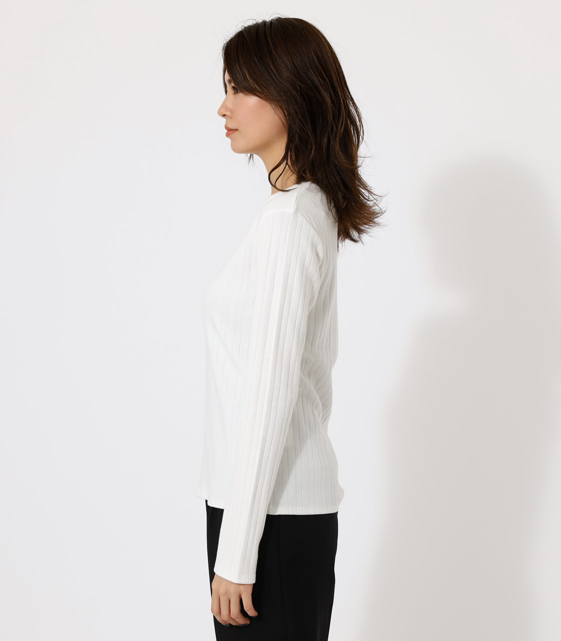 HEART NECK TOPS/ハートネックトップス 詳細画像 O/WHT 5