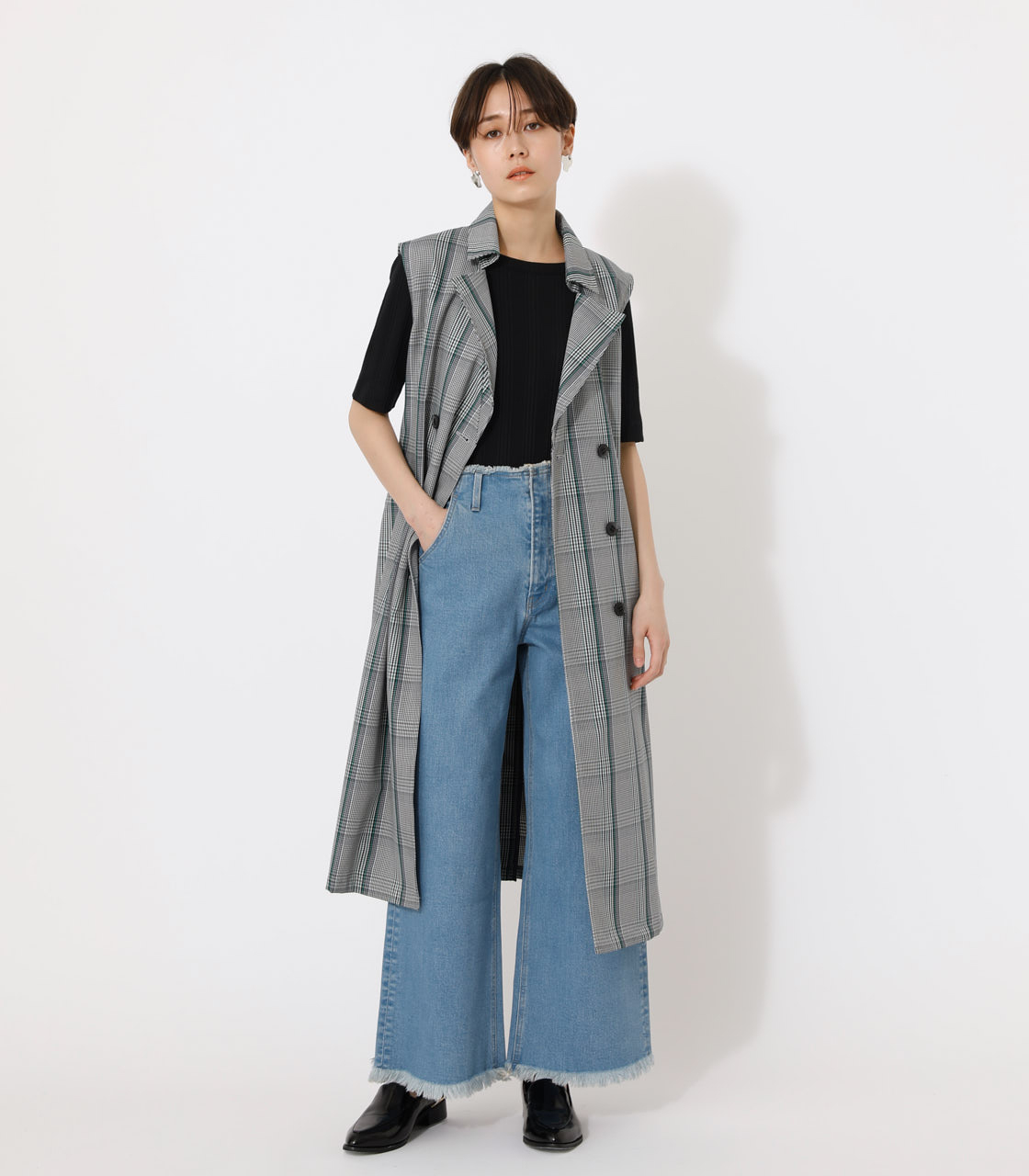 LOOSE TRENCH VEST/ルーズトレンチベスト 詳細画像 柄GRY 1