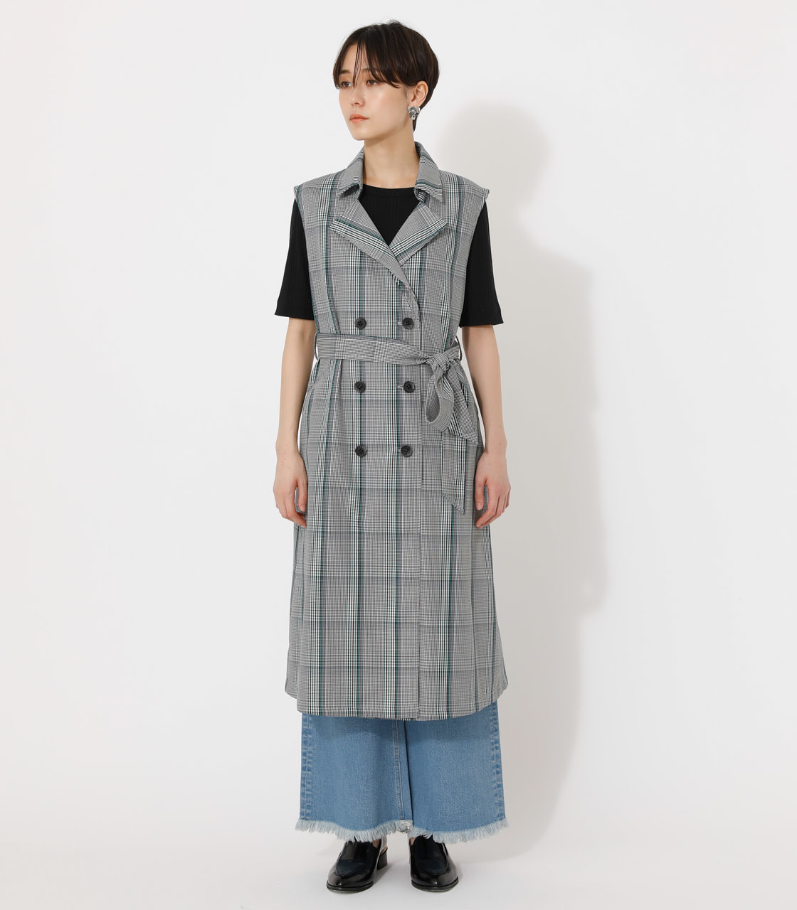 LOOSE TRENCH VEST/ルーズトレンチベスト 詳細画像 柄GRY 4
