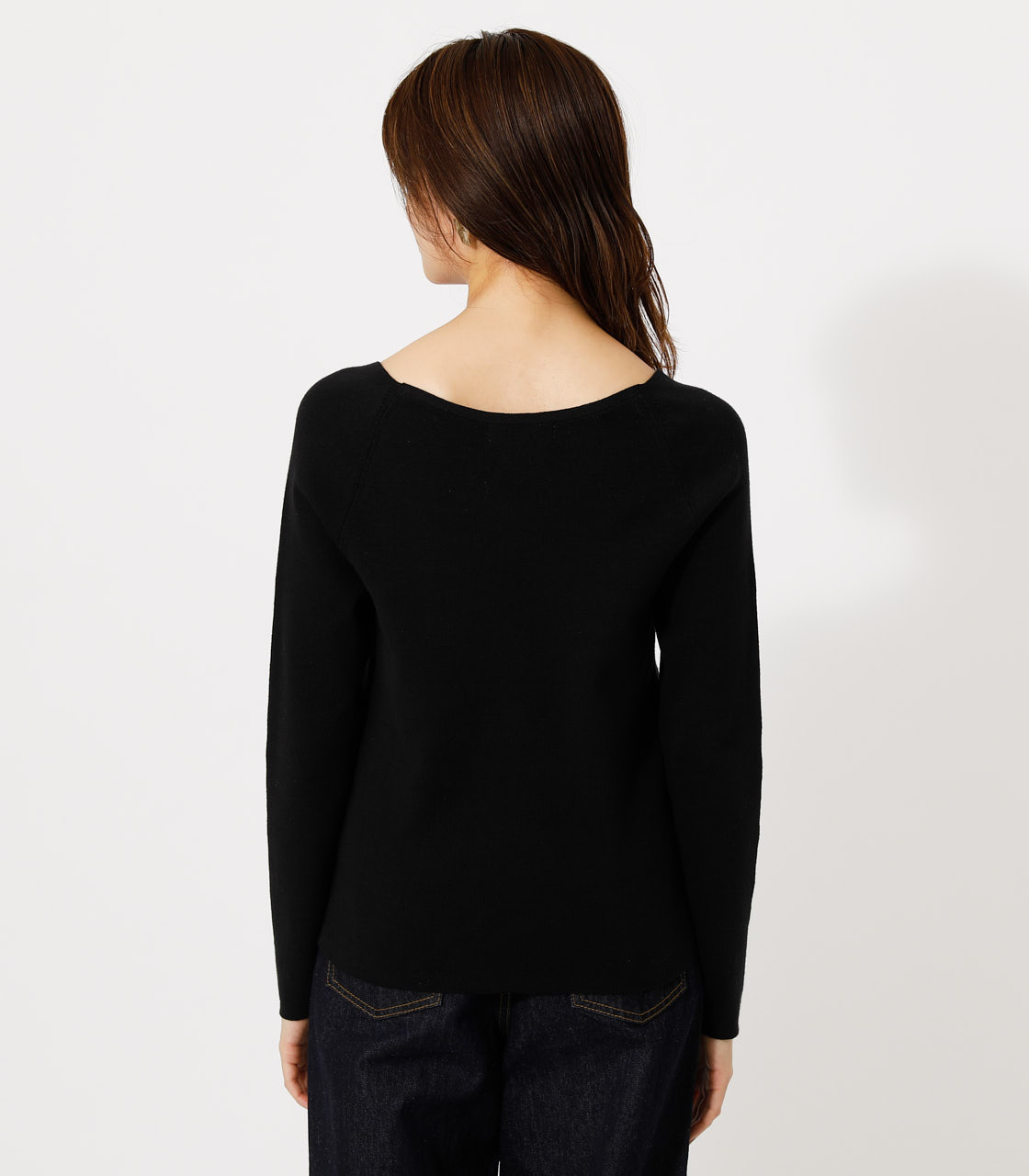 SCALLOP KNIT TOPS/スカルプニットトップス 詳細画像 BLK 6