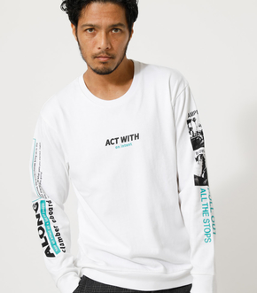 ACT WITH PHOTO LONG TEE/アクトウィズフォトロングTシャツ