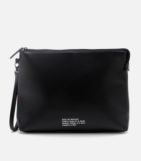 FAUX LEATHER MESSAGE CLUTCH/フォウレザーメッセージクラッチ