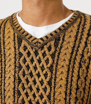 CABLE COLOR KNIT/ケーブルカラーニット 詳細画像