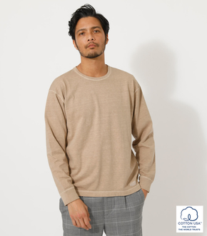 USA COTTON PIGMENT LONG TEE/ユーエスエーコットンピグメントロングTシャツ