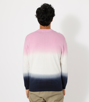 STEP DYEING COLOR KNIT/ステップダイイングカラーニット 詳細画像