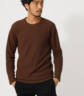 HEAVY WAFFLE LONG SLEEVE TOPS/ヘビーワッフルロングスリーブトップス