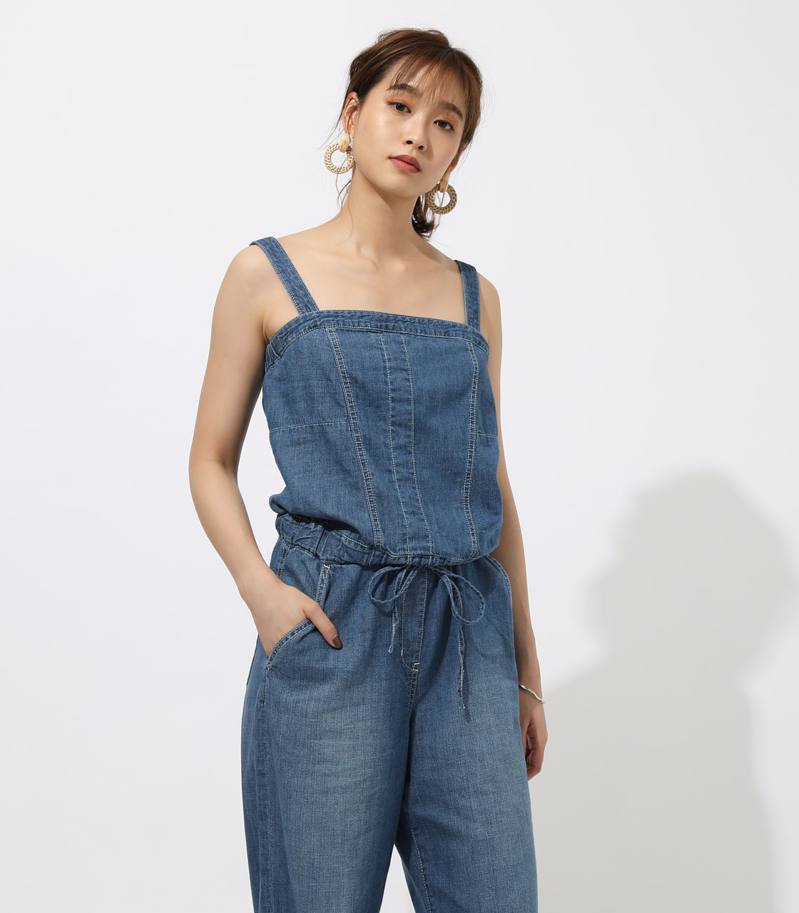 BACK LACEUP OVERALLS 詳細画像 BLU 3