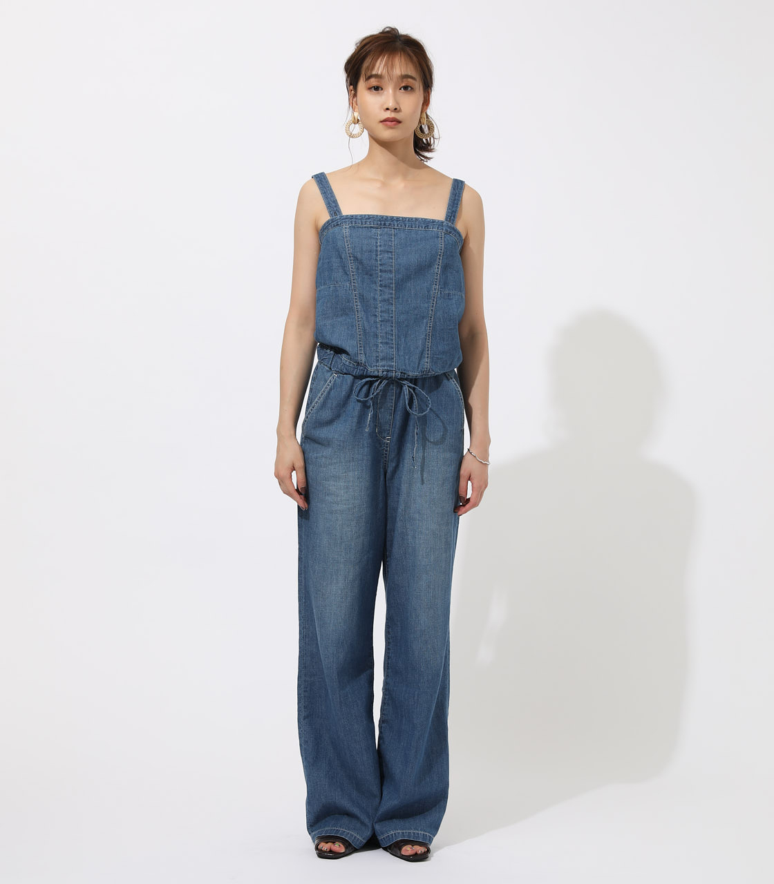 BACK LACEUP OVERALLS 詳細画像 BLU 4