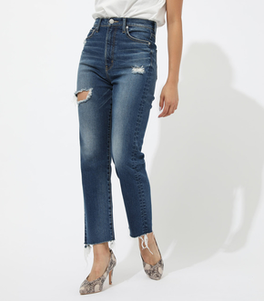 CRASH DENIM SLIM STRAIGHT