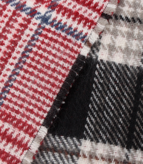 REVERSIBLE CHECK STOLE/リバーシブルチェックストール 詳細画像