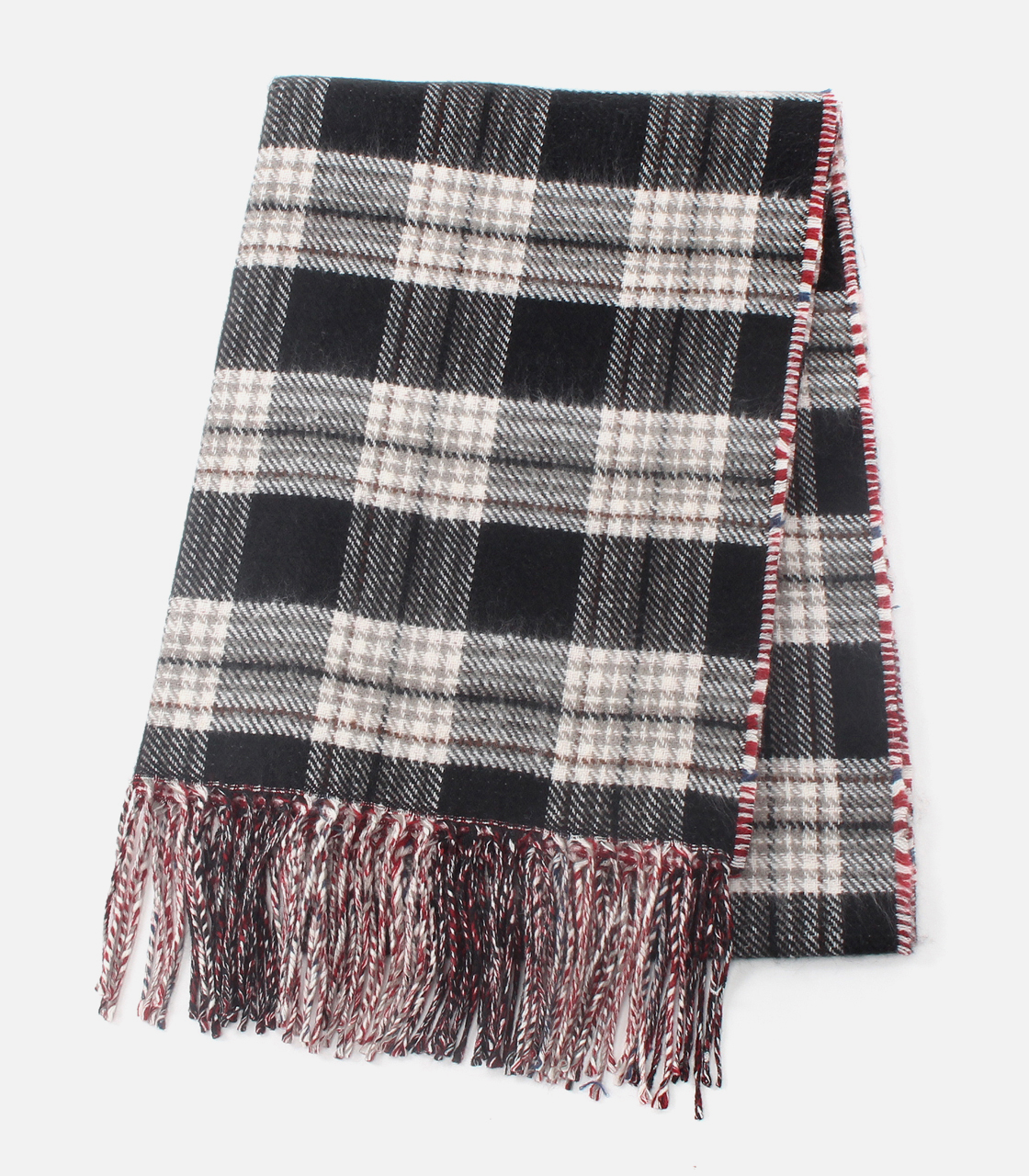 REVERSIBLE CHECK STOLE/リバーシブルチェックストール 詳細画像 柄RED 1