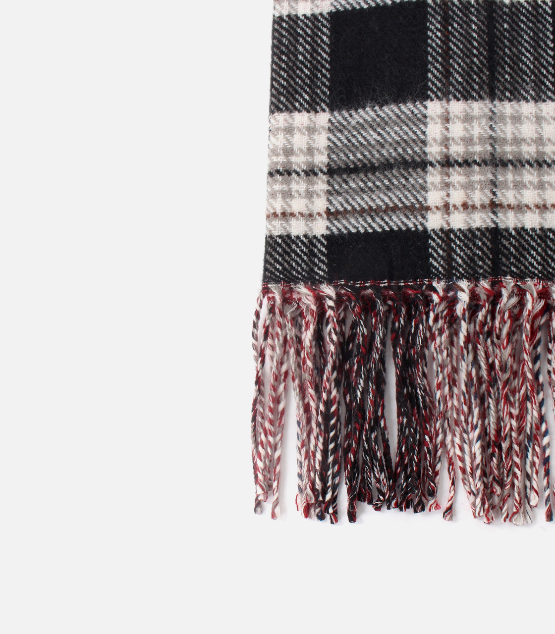 REVERSIBLE CHECK STOLE/リバーシブルチェックストール 詳細画像 柄RED 2