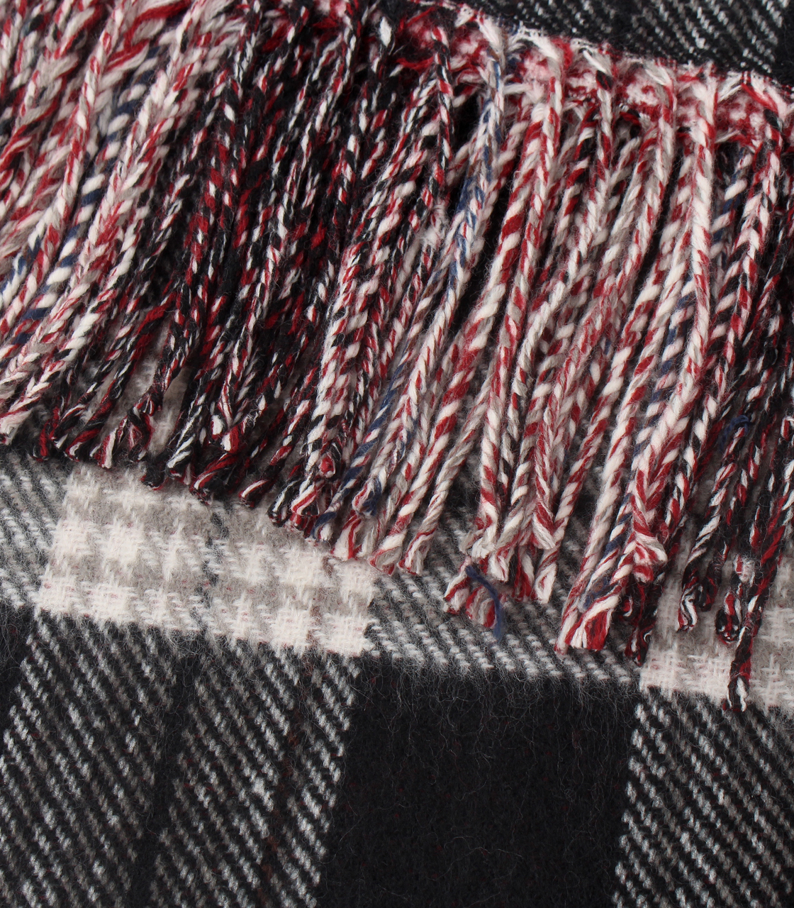 REVERSIBLE CHECK STOLE/リバーシブルチェックストール 詳細画像 柄RED 3
