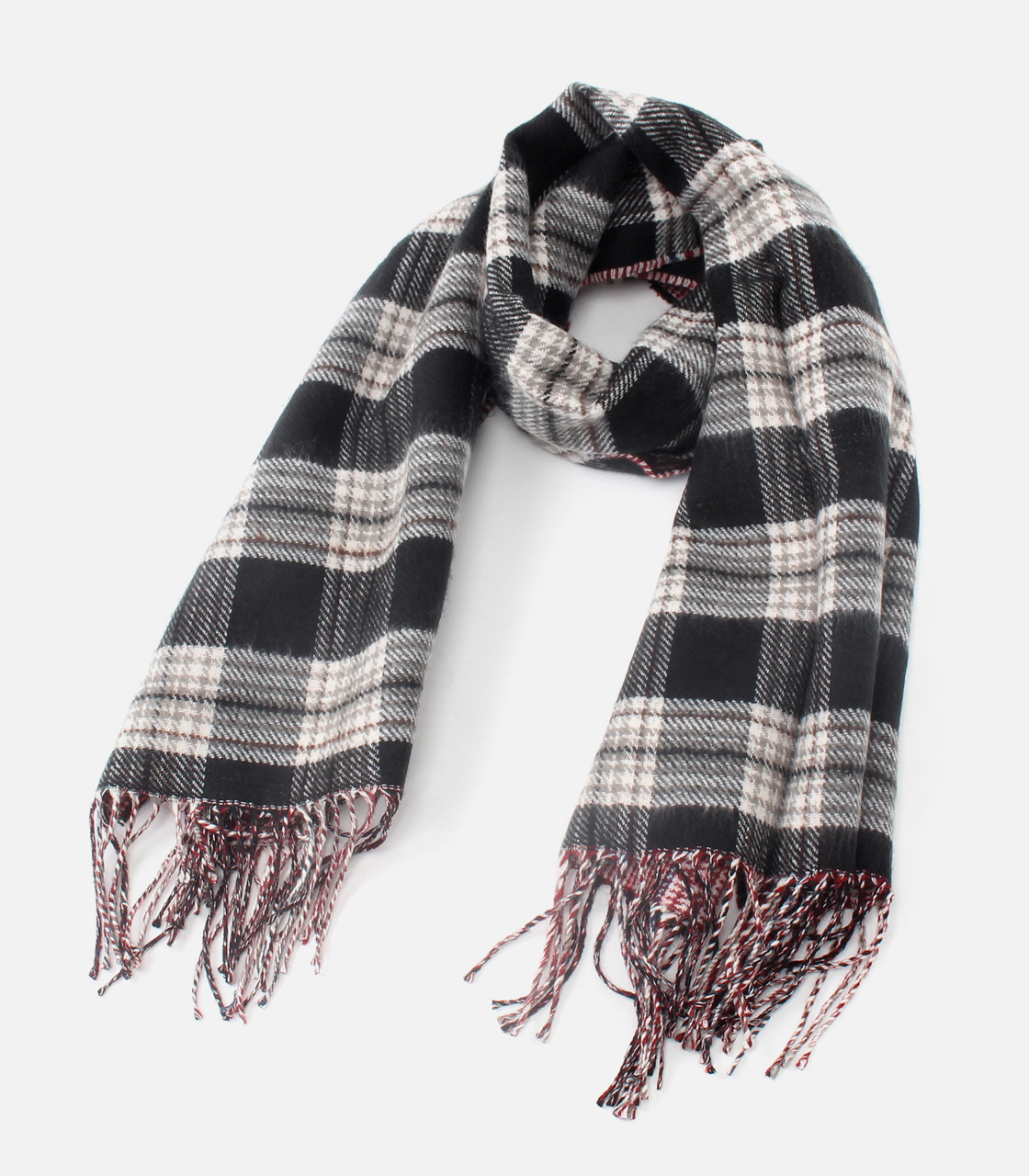 REVERSIBLE CHECK STOLE/リバーシブルチェックストール 詳細画像 柄RED 6