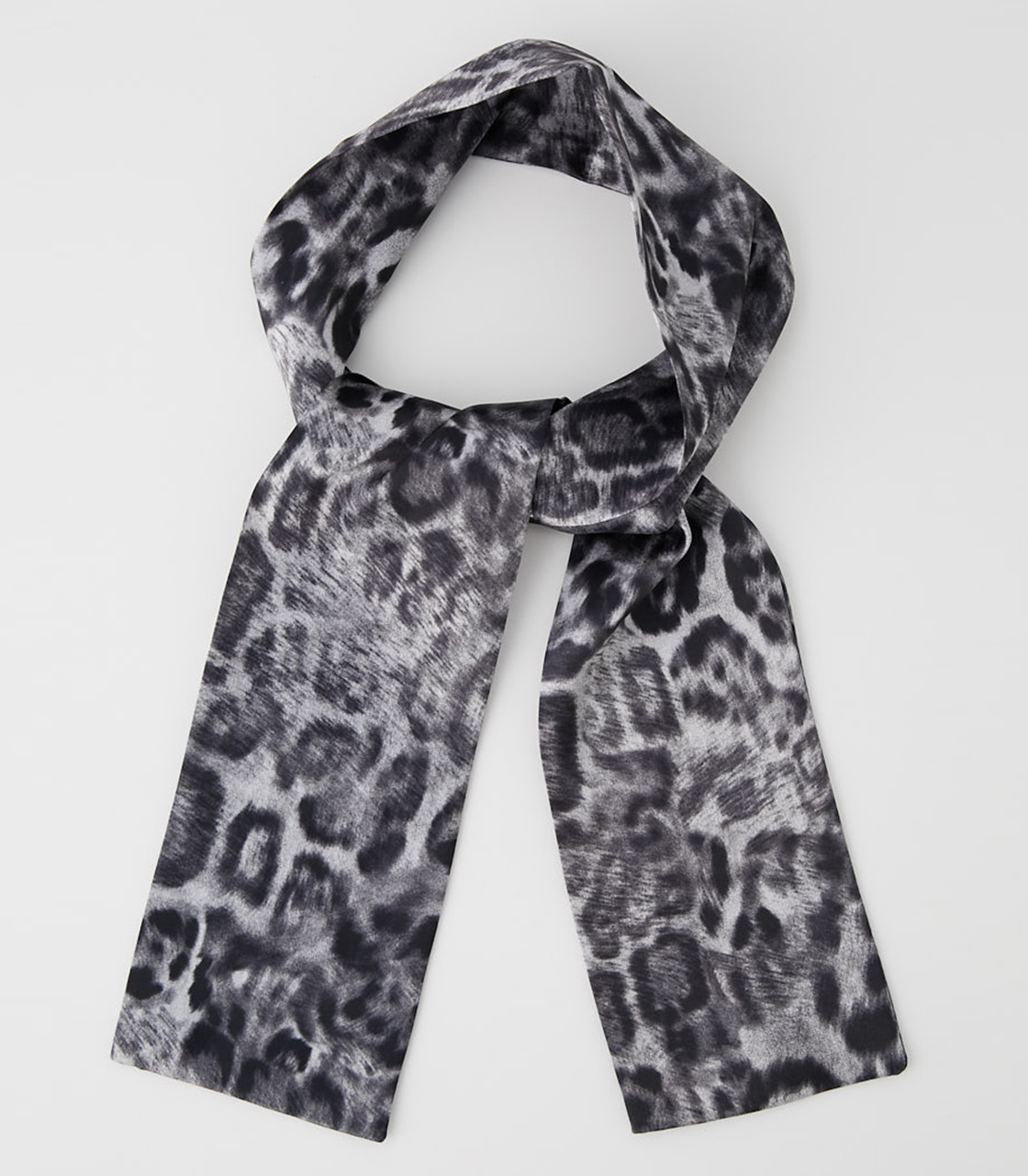 LEOPARD SCARF NECKLACE/レオパードスカーフネックレス 詳細画像 柄GRY 1