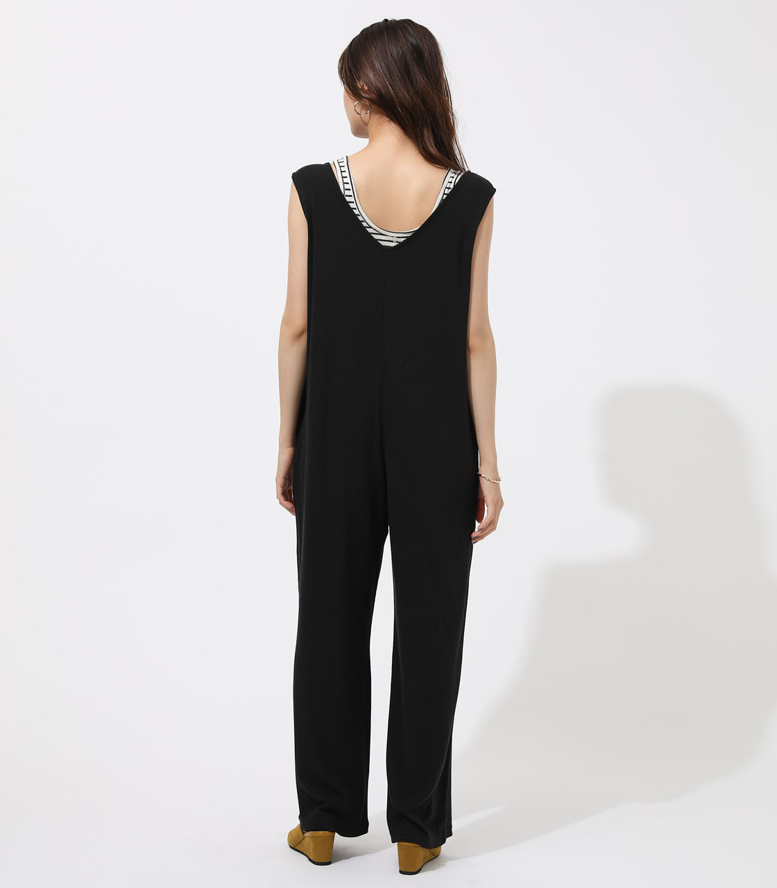 RIB SLEEVELESS ALL IN ONE 詳細画像 BLK 6