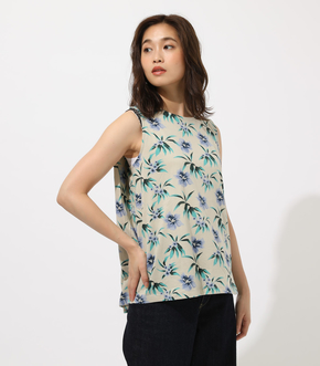 FLOWER PATTERN TANK TOP