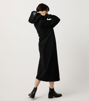 LOGO HOODED ONEPIECE/ロゴフーデッドワンピース