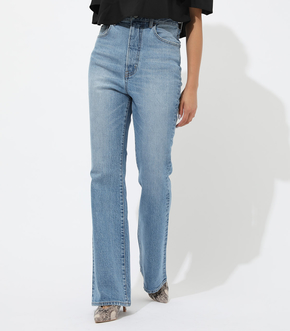 HIGH WAIST DENIM FLARE