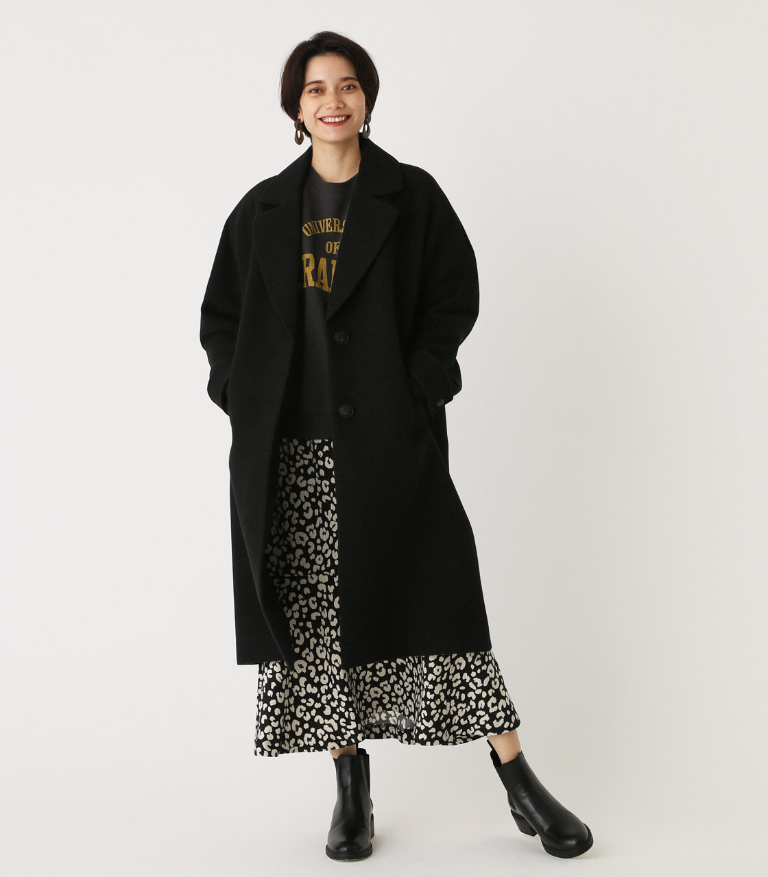OVER LOOSE CHESTER COAT/オーバールーズチェスターコート 詳細画像 BLK 1