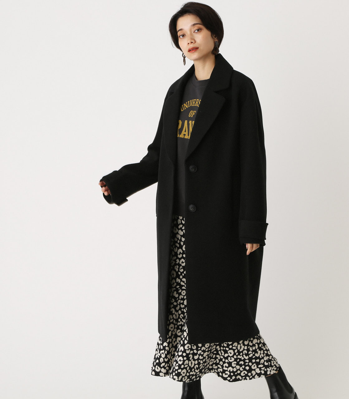 OVER LOOSE CHESTER COAT/オーバールーズチェスターコート 詳細画像 BLK 2