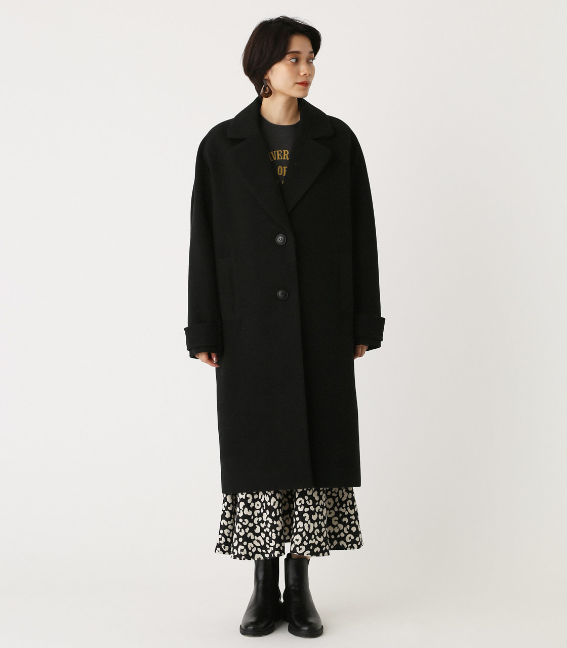 OVER LOOSE CHESTER COAT/オーバールーズチェスターコート 詳細画像 BLK 4