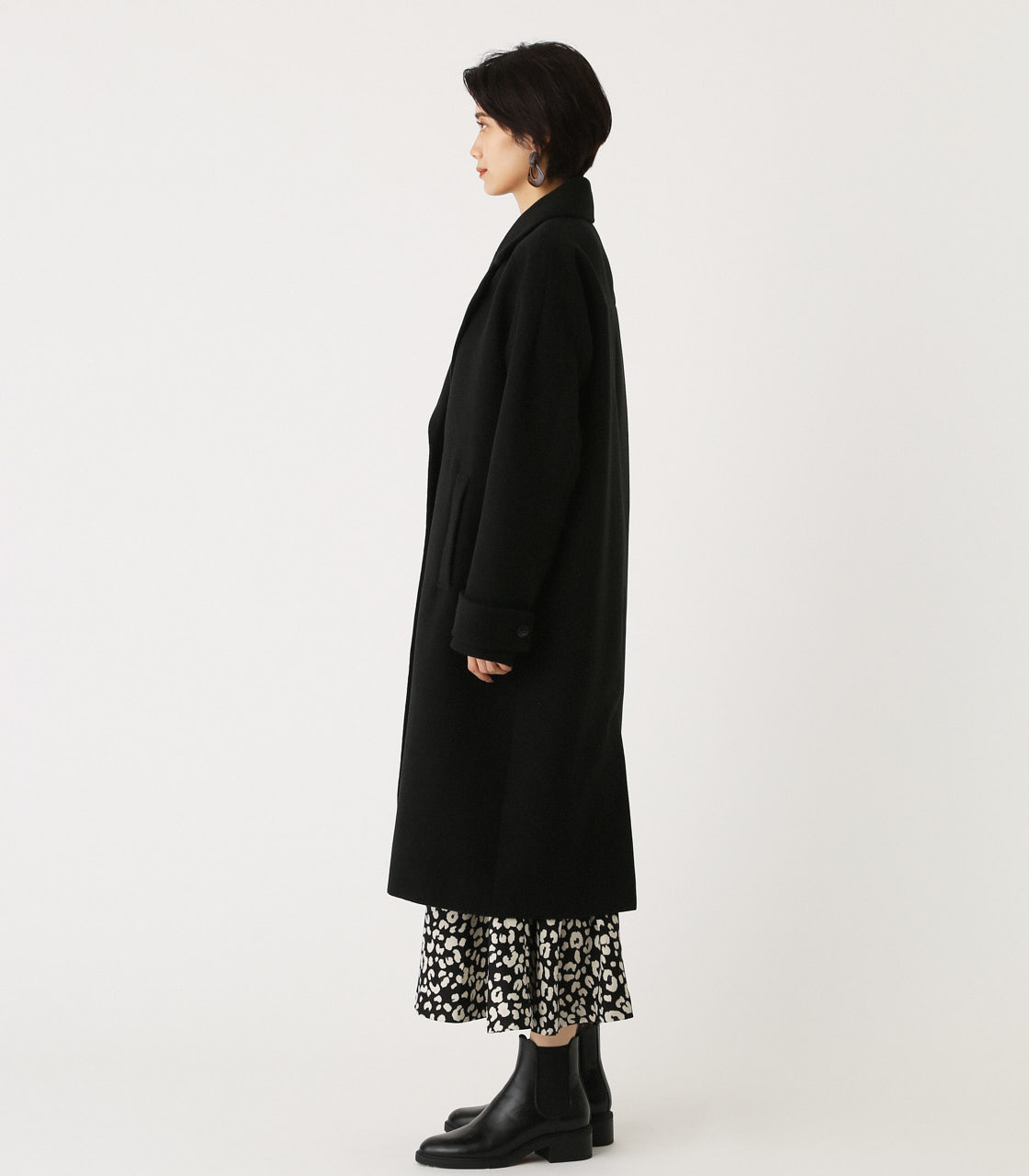 OVER LOOSE CHESTER COAT/オーバールーズチェスターコート 詳細画像 BLK 5