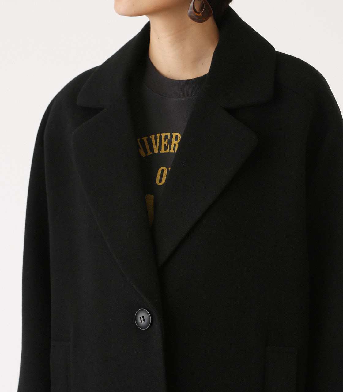 OVER LOOSE CHESTER COAT/オーバールーズチェスターコート 詳細画像 BLK 7
