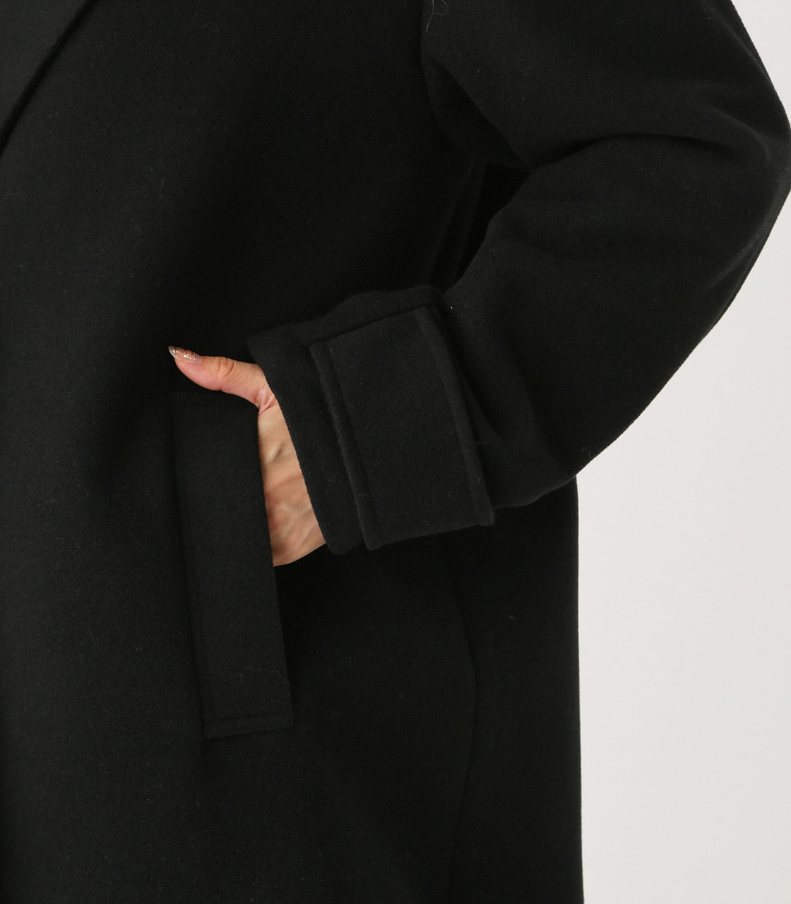 OVER LOOSE CHESTER COAT/オーバールーズチェスターコート 詳細画像 BLK 8