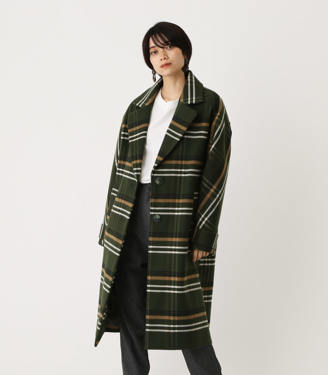OVER LOOSE CHESTER COAT/オーバールーズチェスターコート 詳細画像 柄GRN 1