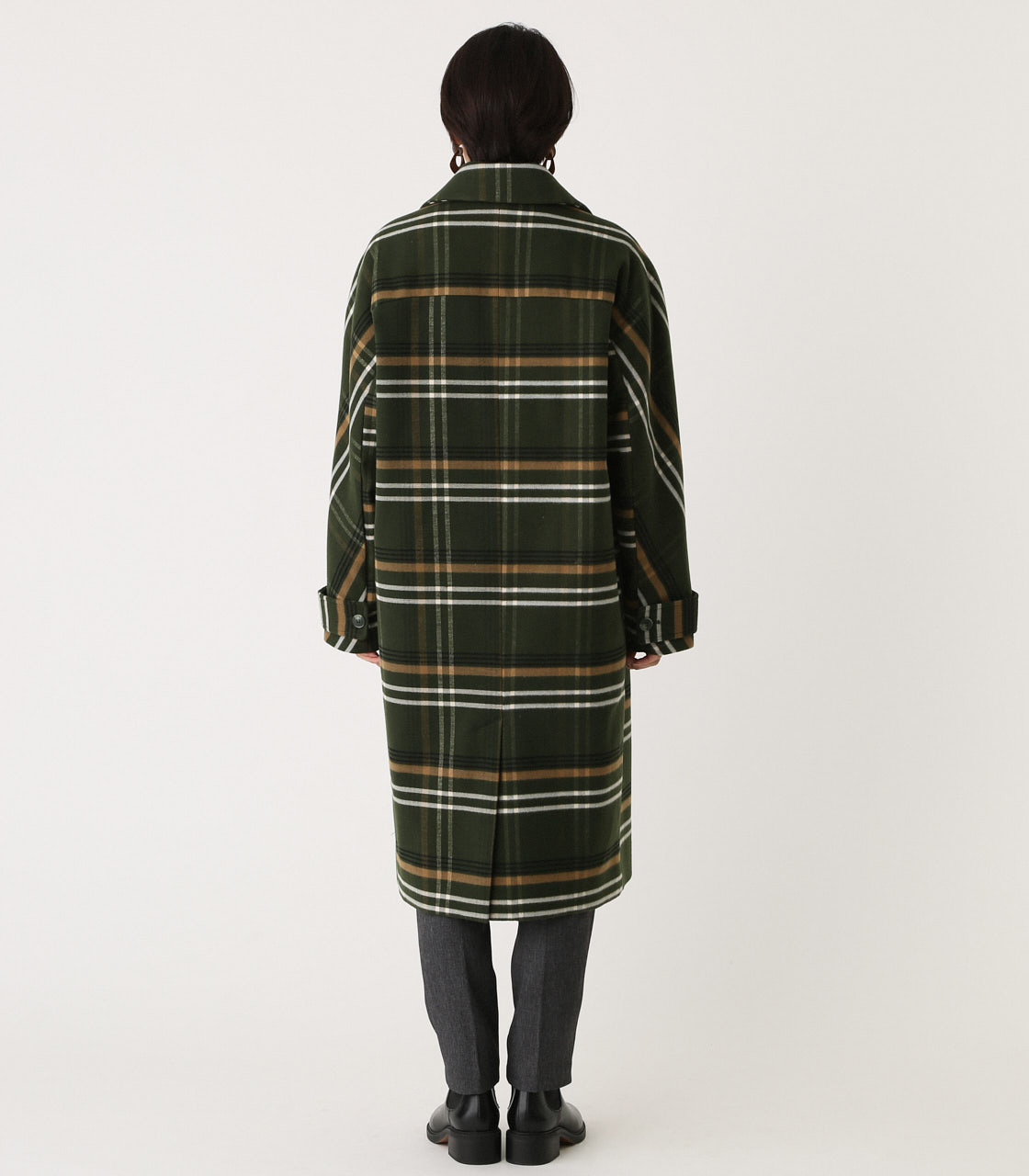 OVER LOOSE CHESTER COAT/オーバールーズチェスターコート 詳細画像 柄GRN 6