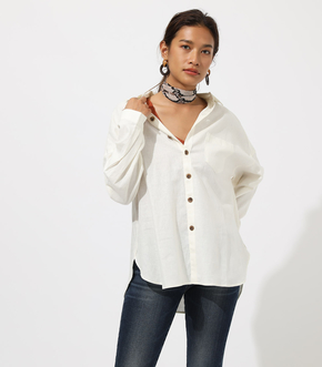 BACK TUCK LINEN LOOSE SHIRT