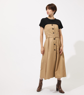 TRENCH BARE ONEPIECE/トレンチベアーワンピース