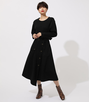 TRENCH DOCKING ONEPIECE/トレンチドッキングワンピース