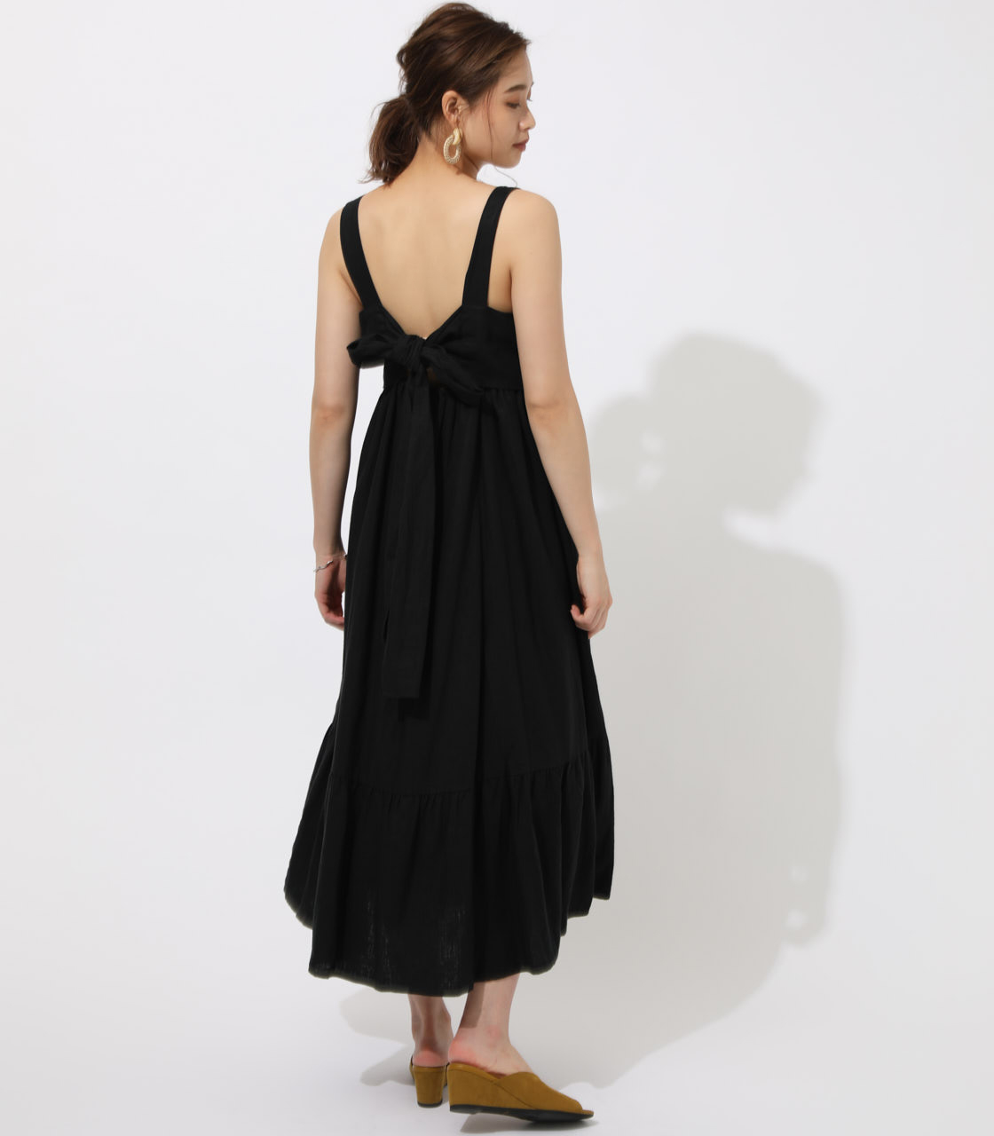 BACK RIBBON TIERED ONEPIECE 詳細画像 BLK 2