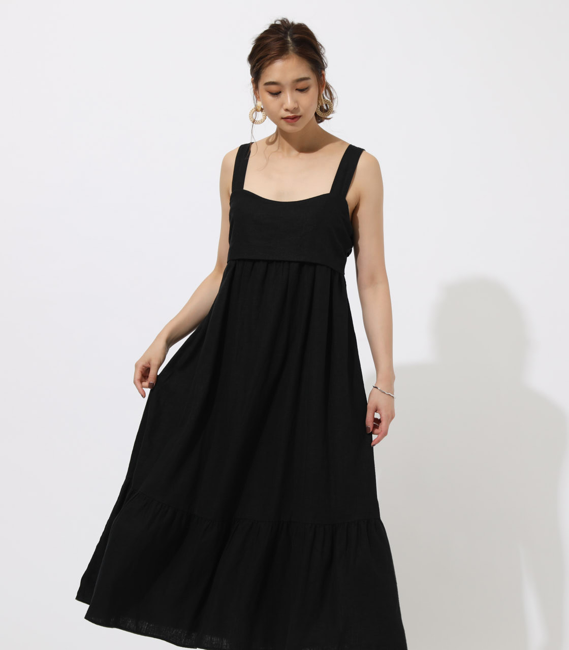 BACK RIBBON TIERED ONEPIECE 詳細画像 BLK 3