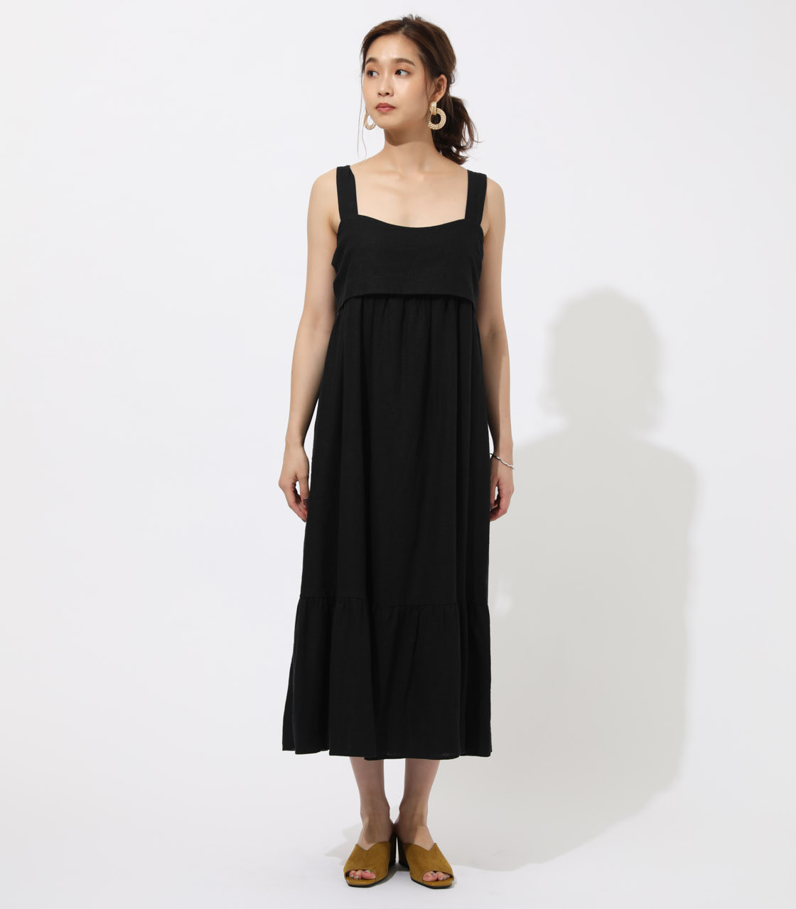 BACK RIBBON TIERED ONEPIECE 詳細画像 BLK 4