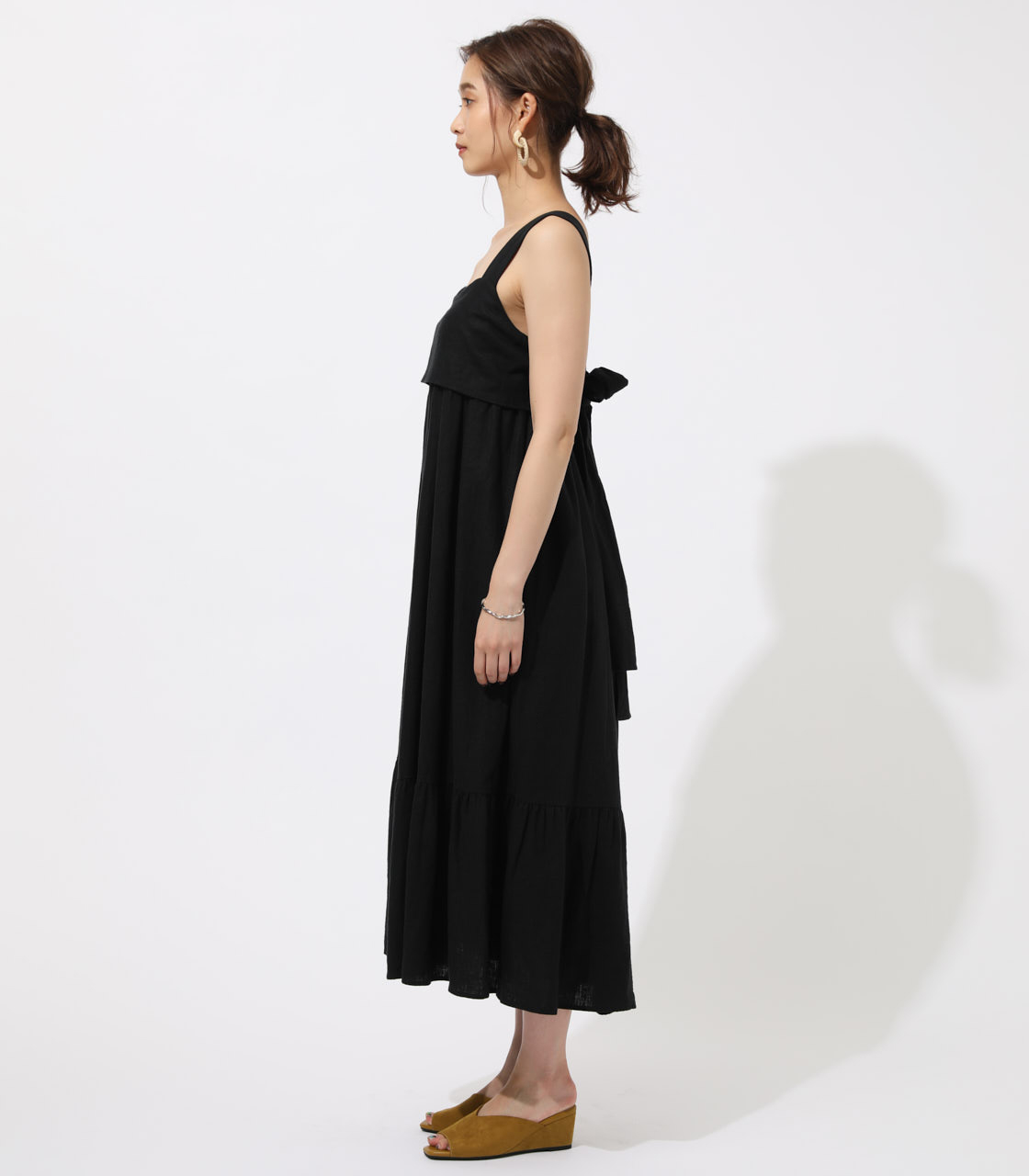 BACK RIBBON TIERED ONEPIECE 詳細画像 BLK 5