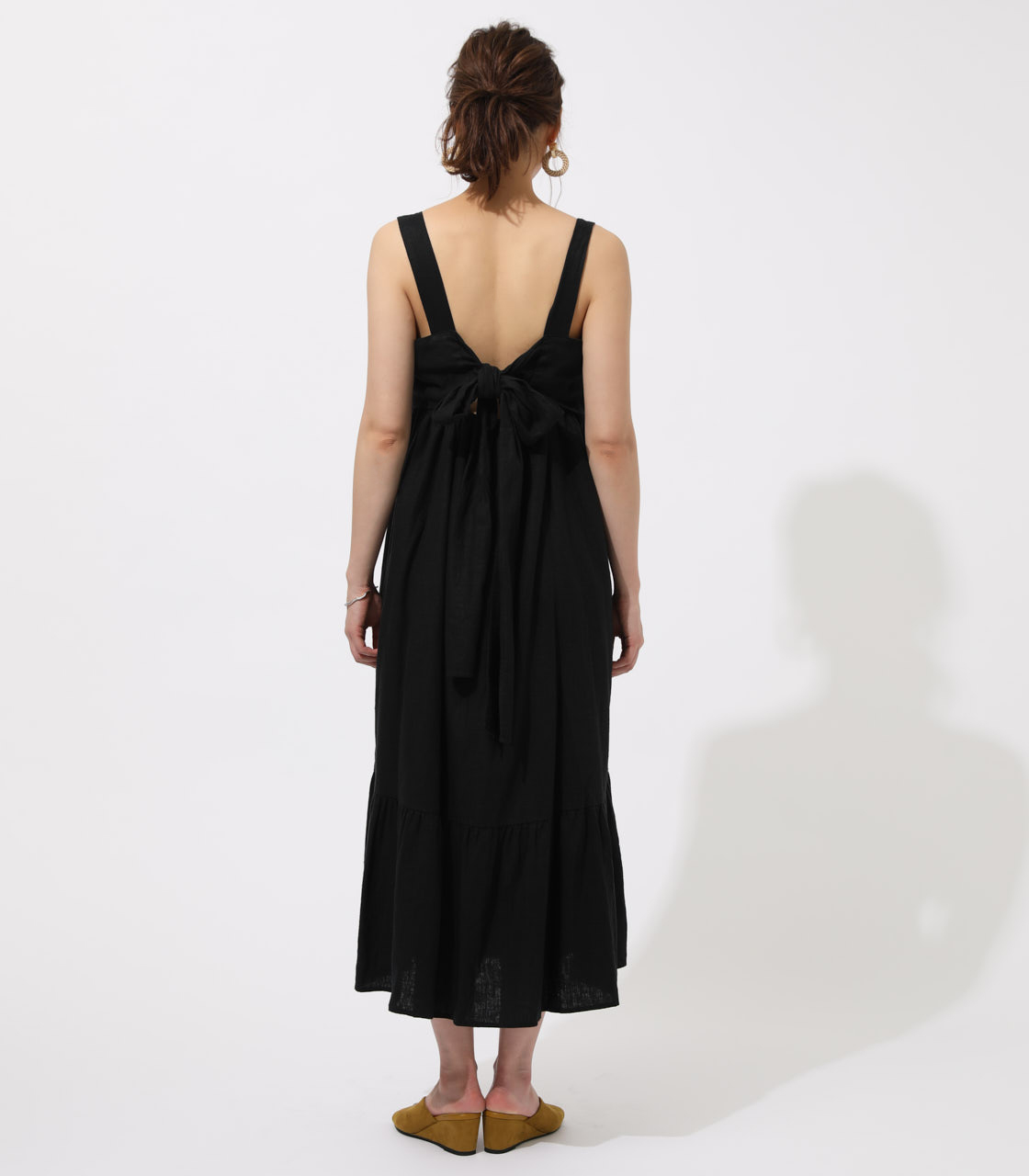 BACK RIBBON TIERED ONEPIECE 詳細画像 BLK 6