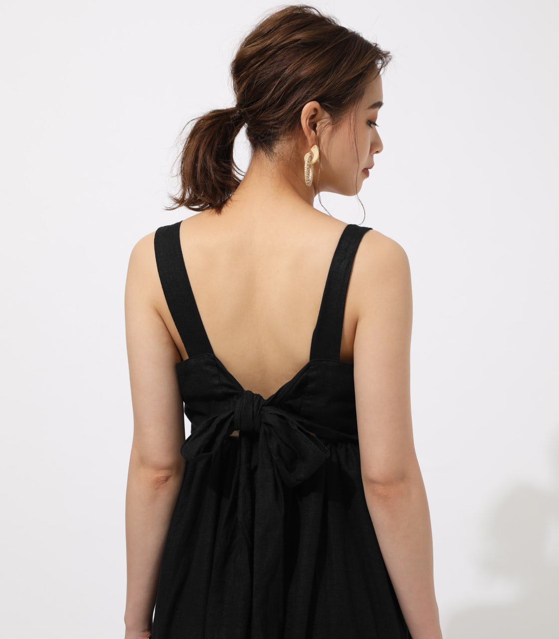 BACK RIBBON TIERED ONEPIECE 詳細画像 BLK 8