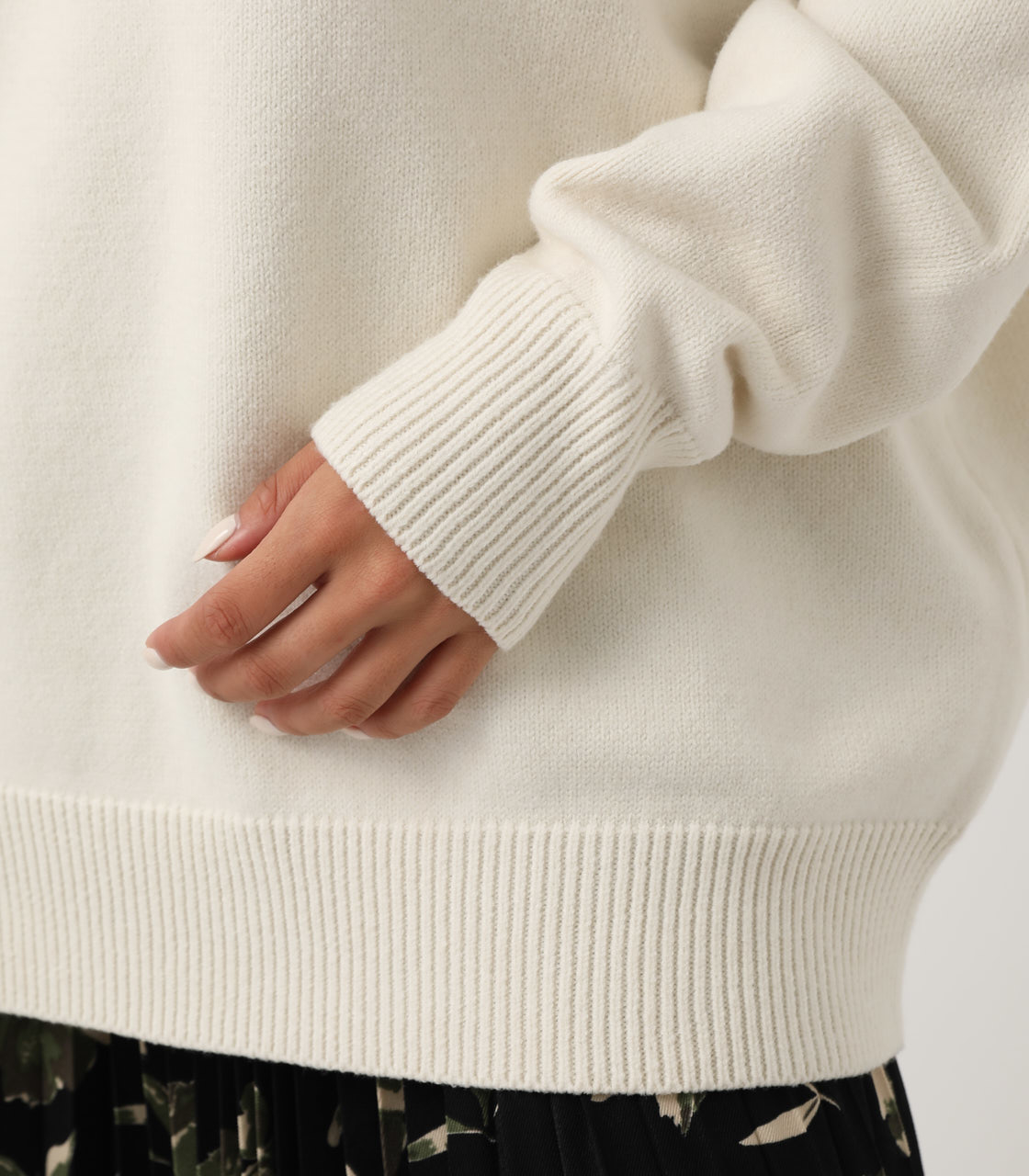 2WAY KNIT SET TOPS/2WAYニットセットトップス【MOOK#51掲載 90201】 詳細画像 O/WHT 9