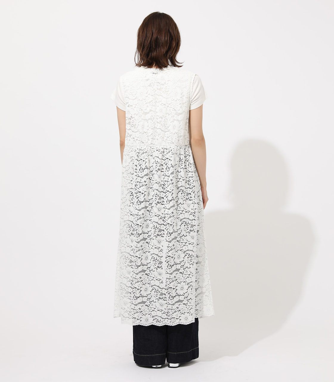 【AZUL BY MOUSSY】SCALLOP LACE GILET 詳細画像 O/WHT 6