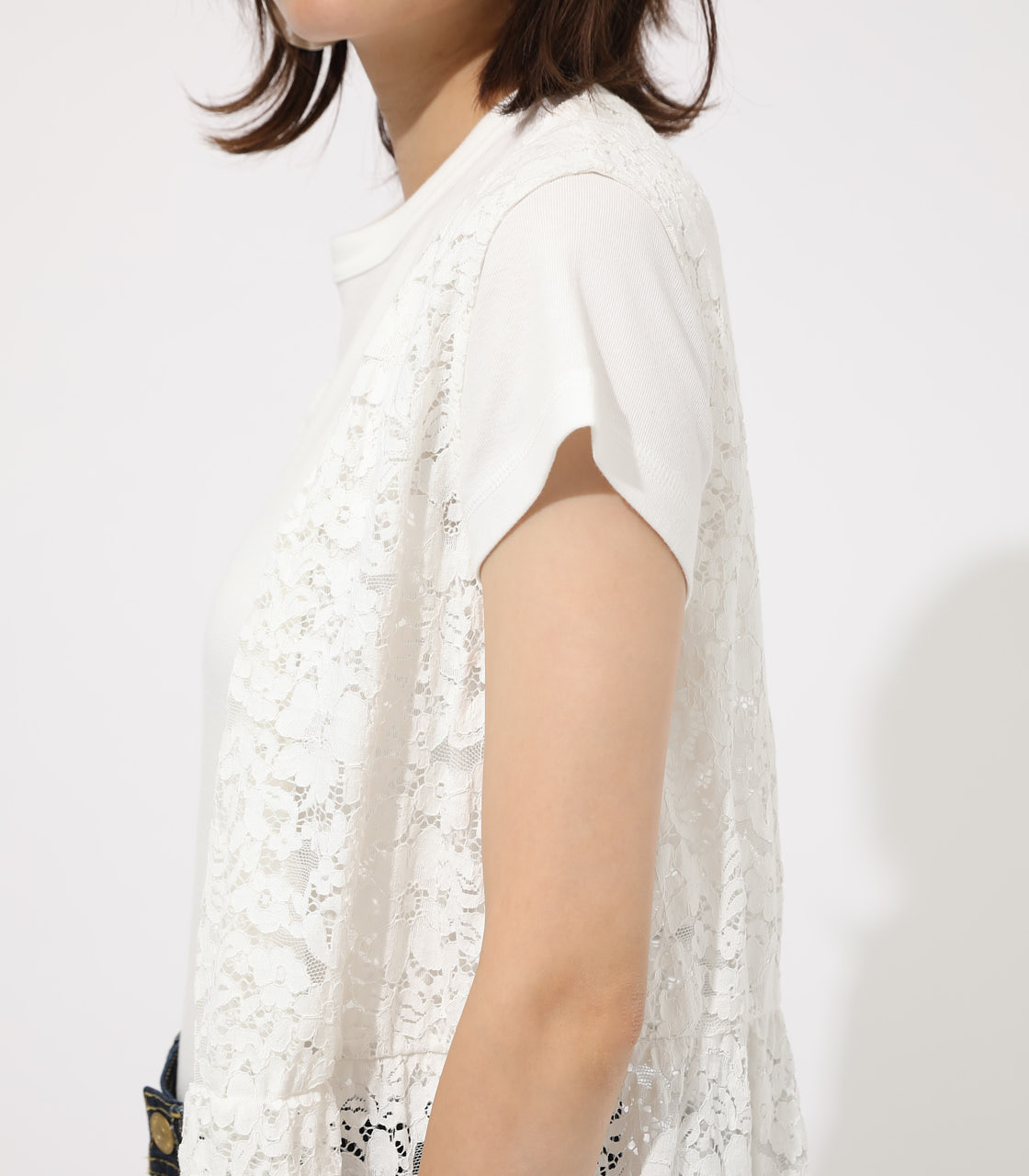【AZUL BY MOUSSY】SCALLOP LACE GILET 詳細画像 O/WHT 8