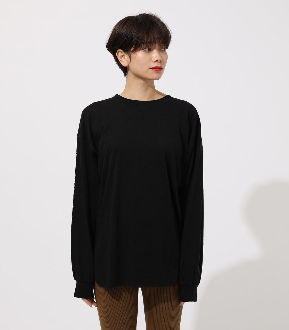 LONG SLEEVE LOOSE TOPS/ロングスリーブルーズトップス 詳細画像 BLK 4