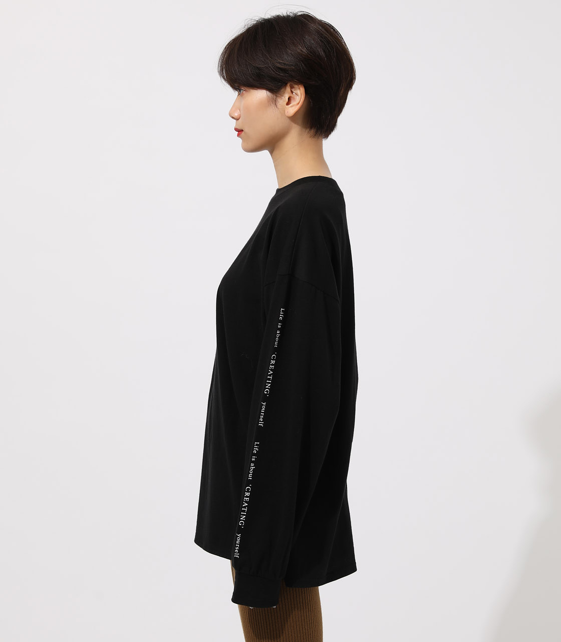 LONG SLEEVE LOOSE TOPS/ロングスリーブルーズトップス 詳細画像 BLK 5