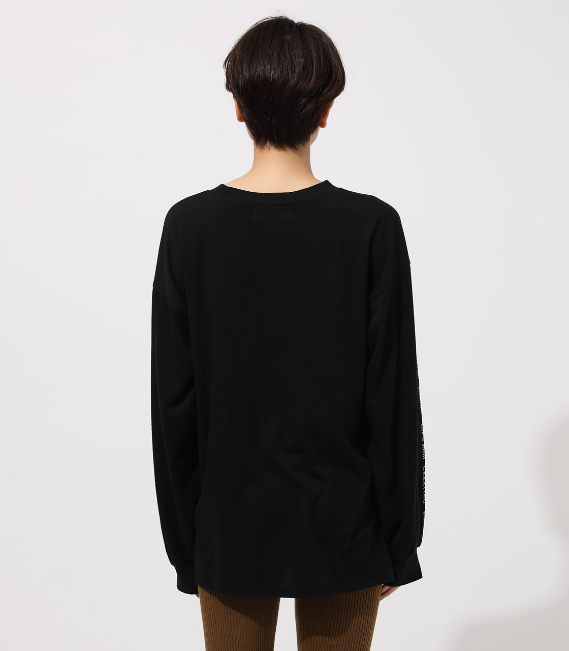 LONG SLEEVE LOOSE TOPS/ロングスリーブルーズトップス 詳細画像 BLK 6
