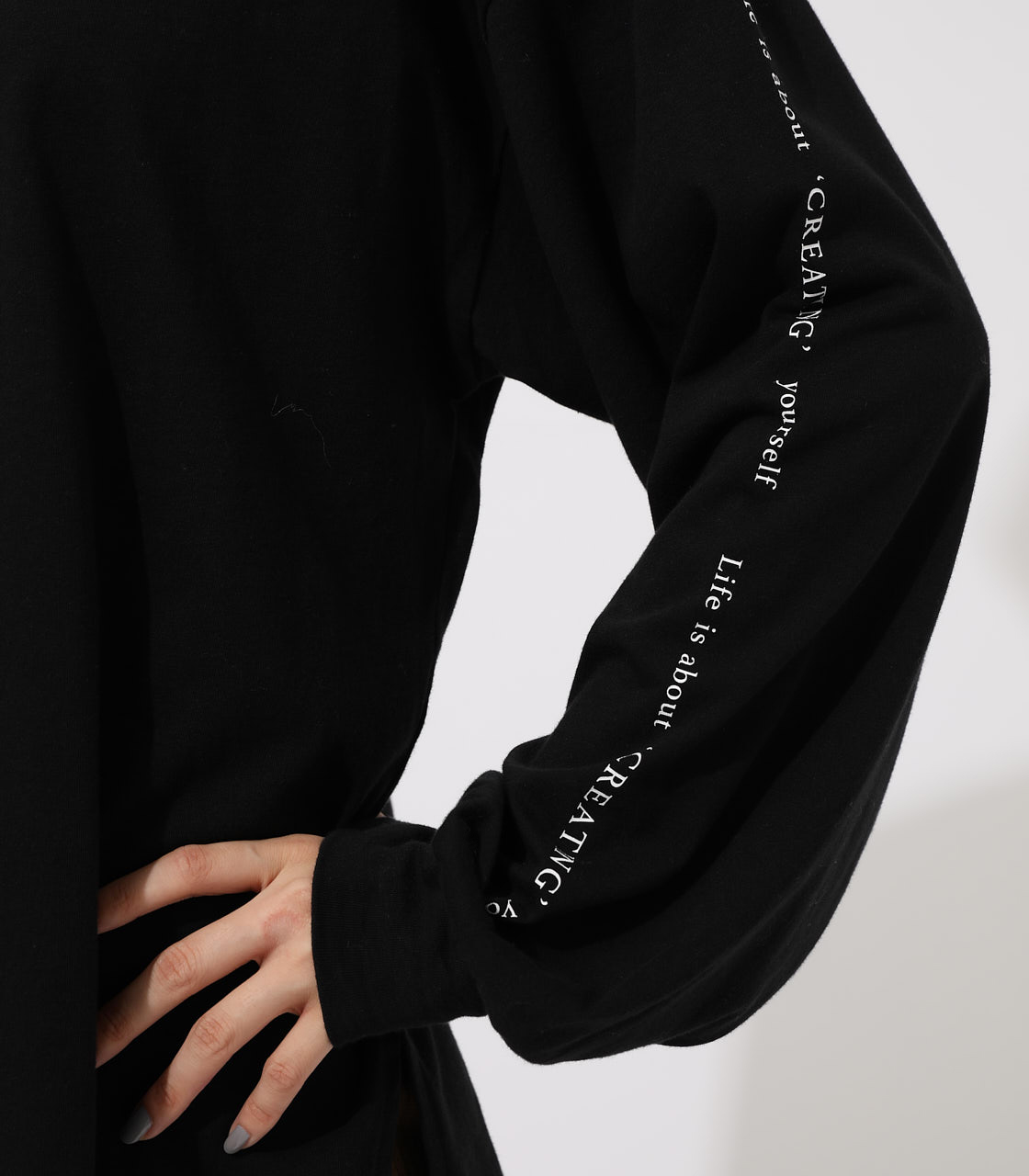 LONG SLEEVE LOOSE TOPS/ロングスリーブルーズトップス 詳細画像 BLK 8