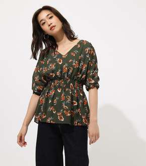 FLARE SLEEVE GATHER TOP/フレアスリーブガータートップ