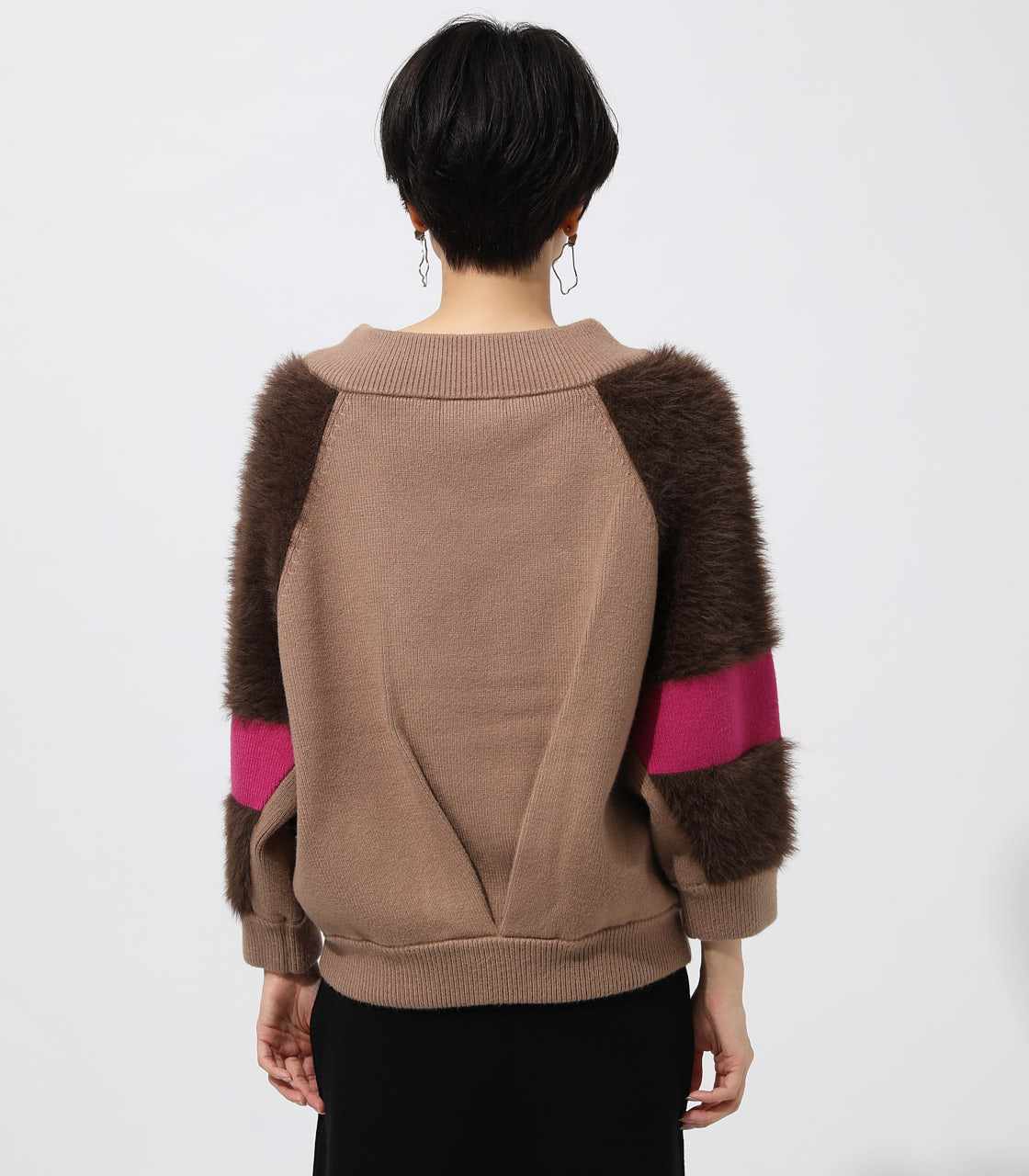 ARM DESIGN KNIT TOPS/アームデザインニットトップス 詳細画像 柄BEG 6