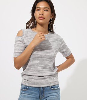 OPEN SHOULDER KNIT TOP